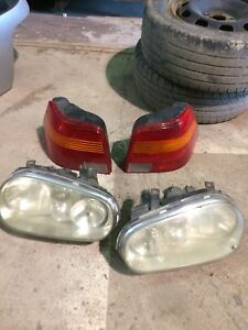 Vw golf headlights and tail lights