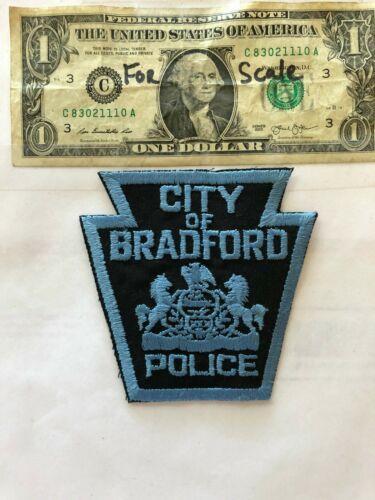 Bradford Pennsylvania Police Patch un-sewn in mint shape
