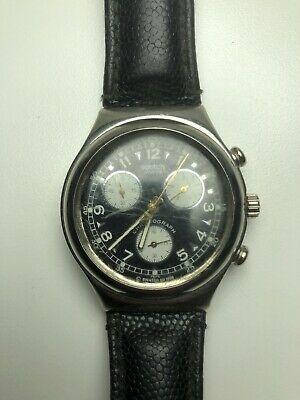 Vintage Swatch Swiss Chronograph Mens Wrist Watch