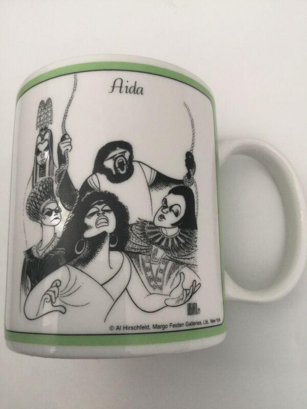 The Metropolitan Opera AIDA Coffee Mug Al Hirschfeld Margo Feiden Vtg 1984 Cup