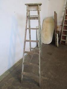 D20062 Vintage Industrial Rustic Timber Ladder Mount Barker Mount Barker Area Preview
