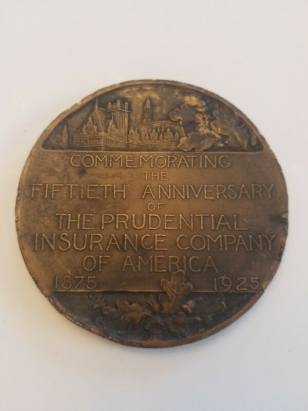VTG INSURANCE COMMEMORATIVE COIN. THE PRUDENTIAL INSURANCE CO. BRONZE METAL.