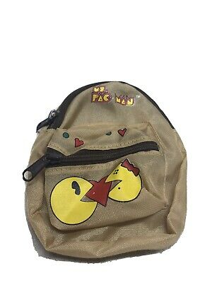 Vintage Mrs Pacman Pac Man  Mini Backpack Bally Midway Coin Purse
