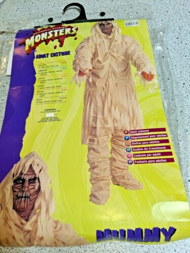 Mummy Halloween Costume Adult by Universal Studios Monsters Size Standard- Used