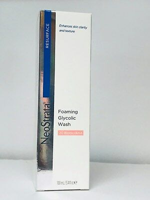 Neostrata Foaming Glycolic Wash AHA 20 FULL SIZE 3.4 oz. / 100ml New in Box ()