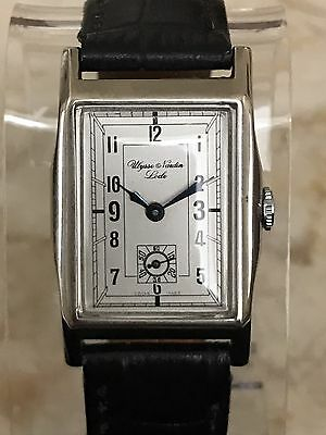ULYSSE NARDIN RECTANGULAR MEN´S WATCH FROM 1930's