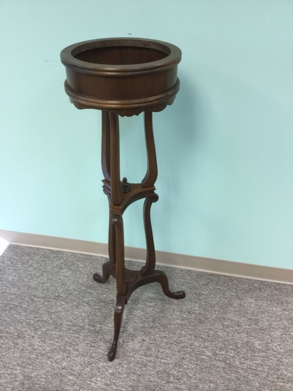 Antique Mahogany Tall Plant Stand