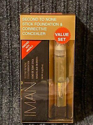 Iman Second to None Stick Foundation & Corrective Concealer  EARTH 3 (Iman Second To None Stick Foundation Earth 3)
