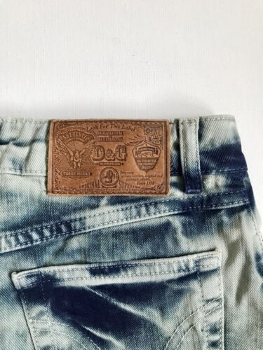 Dolce & gabbana mini jupe / mini skirt jeans t. 34, xs, d&g new denim distressed