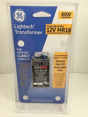 Ge Lightech Transformer 60watt Let 60 Lw Electronic Low Voltage New Sealed