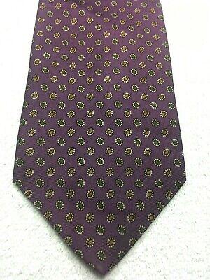 Brooks Brothers Herren Krawatte Lila mit Gold und Grün 4 X 60