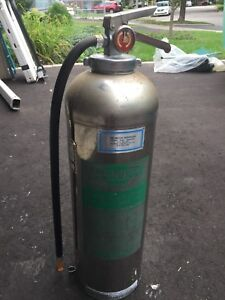Tall Silver Chrome Fire Extinguisher