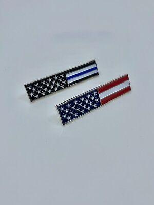 American Flag and Thin Blue Line Flag Pins Blue Flag Pin