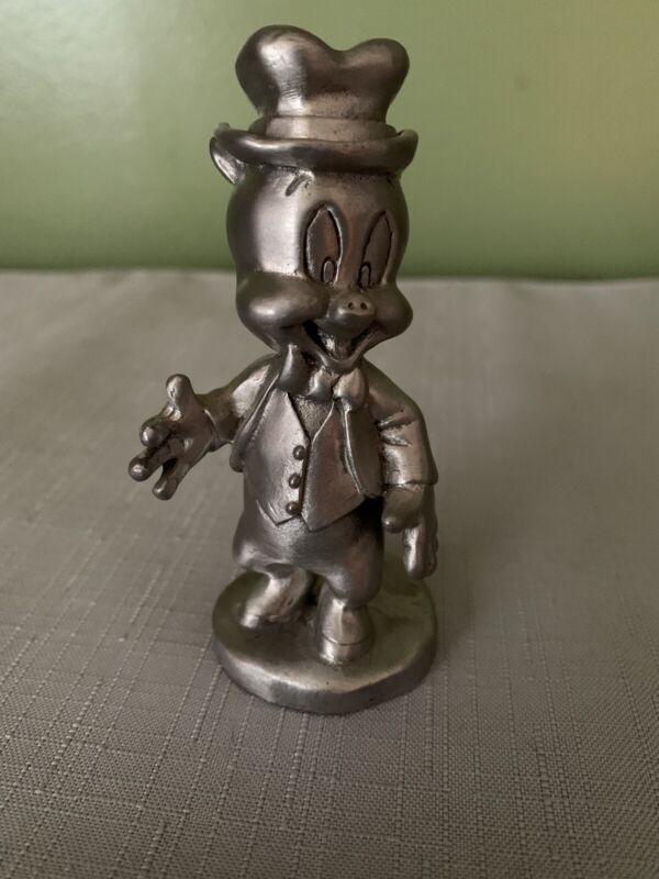 Vtg Porky Pig Pewter Figurine 1994 No Box