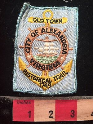 Vtg City Of Alexandria Virginia Patch Old Town Historical Trail 79WK