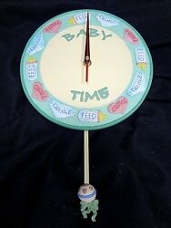BABY CLOCK~BABY TIME: Cuddle-Change-Feed with Rattle Pendulum #74015~NEW in BOX