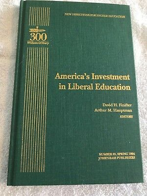 Americas Investment In Liberal Education  Lot F