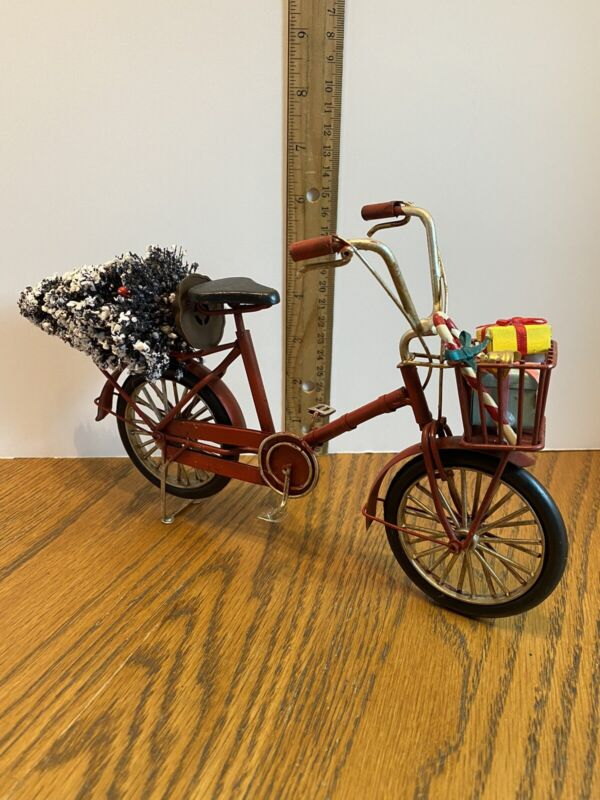 Red Christmas Bicycle Centerpiece