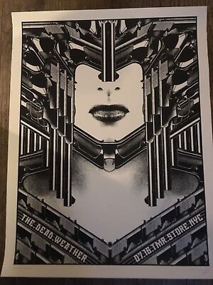 DEAD WEATHER JACK WHITE POSTER THIRD MAN RECORDS POP UP NY ROB JONES #188/242