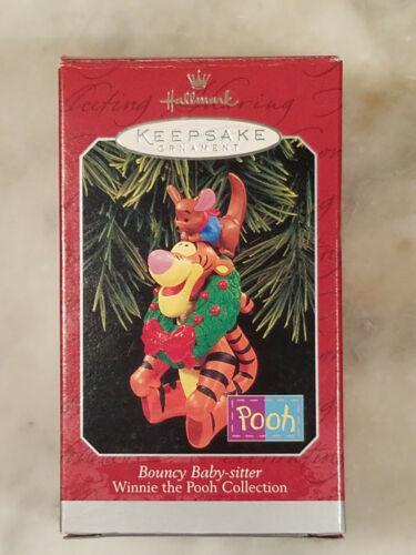 Hallmark Tigger Roo Ornament Bouncy Baby Sitter Disney Pooh 1998