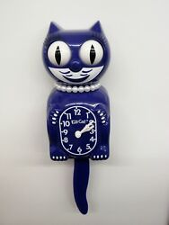 LADY KIT CAT CLOCK - NEW COLOR- ULTRA VIOLET,USA MADE BC-45 FREE BATTERIES LBC45