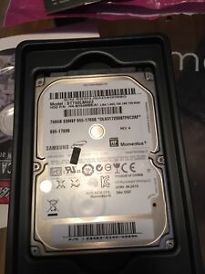 750 gb hard drive 5400 rpm with SATA connection