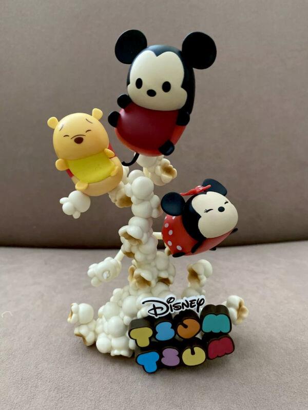 Disney Japan Mickey Minnie Winnie The Pooh Tsum Tsum Popcorn Figure