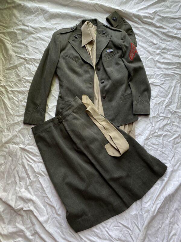 Original Named Wwii Womens Usmc Marine Corp Uniform Group