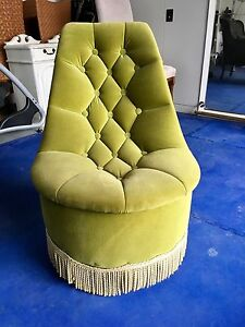 Occasional Chair - Green Velvet Chesterfield Lilli Pilli Sutherland Area Preview