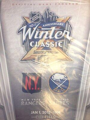 2018 Winter Classic Program Buffalo Sabres Vs New York Rangers Program New
