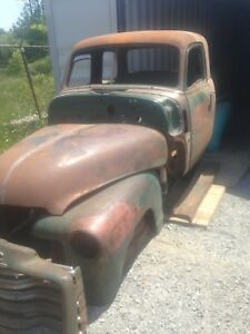 1951 chev truck 5 window. 6 inch stretched cab.