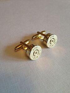 Bullet head .44 Magnum cufflinks - shooting hunting rifle wedding ideal gift!!!!