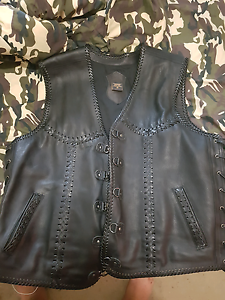 Selling my custom leather vest made for the bigger bloke Forest Lake Brisbane South West Preview