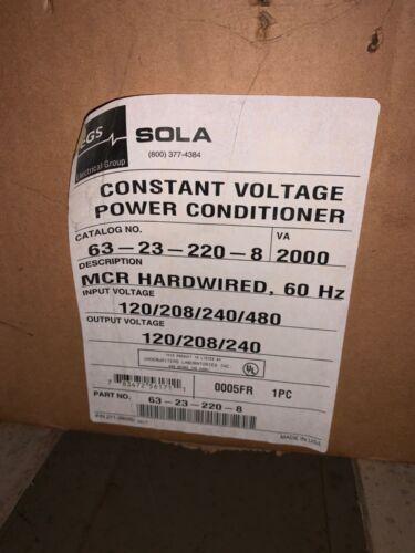 Sola 63-23-220-8 Constant Voltage Power Conditioner 2000 VA - NEW