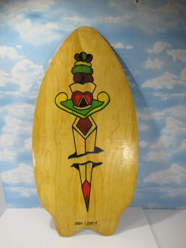 Skim Lizard 2007 Wooden Board Surf Skimboard Read Desc