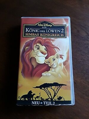 VHS Walt Disney Der König der Löwen 2 Simbas Königreich Teil 2