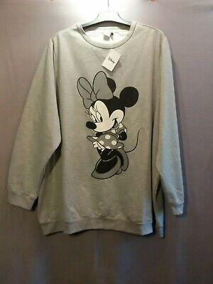 Damen DISNEY SweatShirt in grau MINNIE MOUSE in große Größe 56 (Disney Sweatshirt Damen In)
