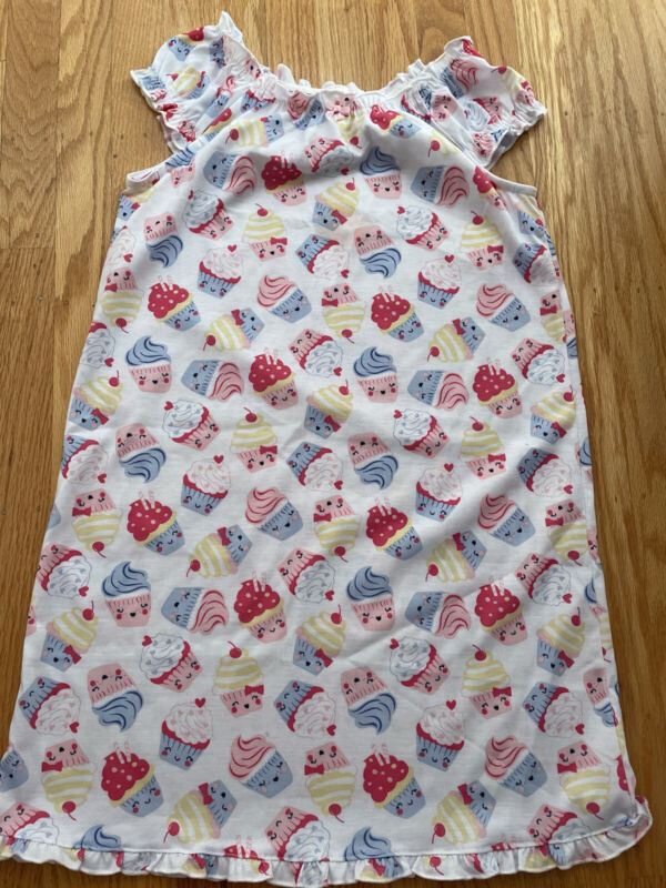 NWT Gymboree Night Gown Pjs Cupcakes Cap Sleeves Size 10/12