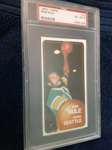 1970  Topps #15 Seattle Bob Rule encapsulated PSA Certified Ex-NM 6