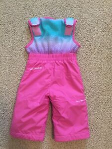 Columbia snow pants girl pink size 18m