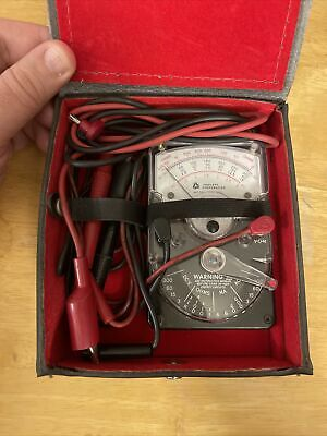 Triplett Bell System 310-tel Multimeter Vom Hand Held With Leather Case