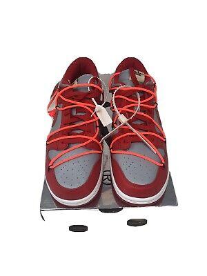 Nike x Off White Dunk Low University Red UK 10