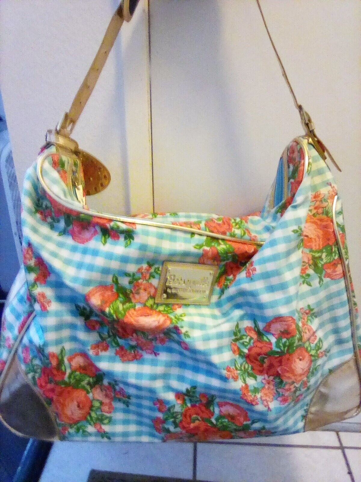 Betsey Johnson Betseyville Women s Floral And Gold Tone Bag Carry On Luggage - $24.99