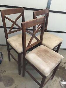 3 bar height stools