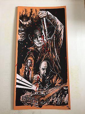 Halloween Ii 1981 (1981 HALLOWEEN II EXTREMELY RARE BLOOD SPLATTERED VARIANT ED SCREEN PRINT)