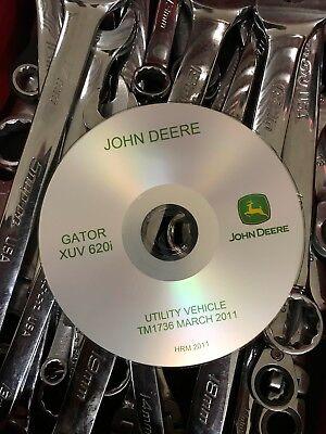Best John Deere Gator Utility Xuv 620i Technical Service Repair Manual Tm1736 Cd