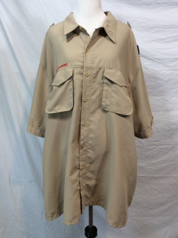 BOY SCOUTS America Shirt 100% Polyester VENTED BSA Adult Mens 3 Extra Large 3XL