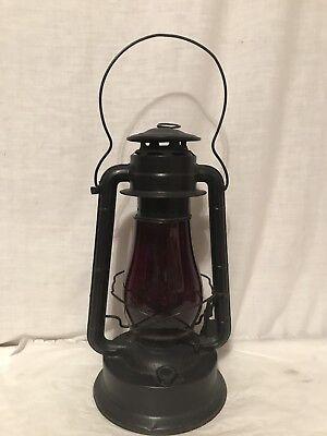 Antique Dietz Blizzard Special No 2 Lantern With Red Globe