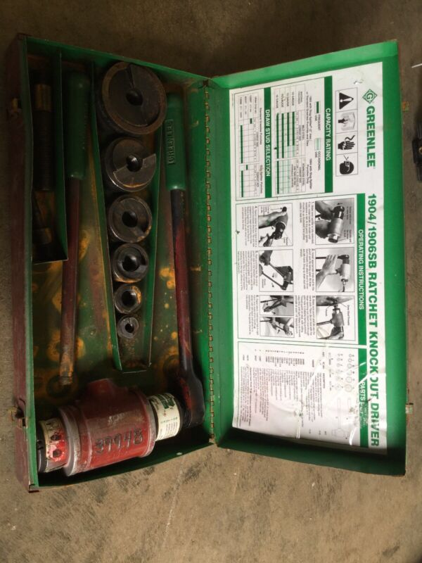 """GREENLEE 1904/1906 Ratchet Knockout Driver 2"""" to 1/2"""""""