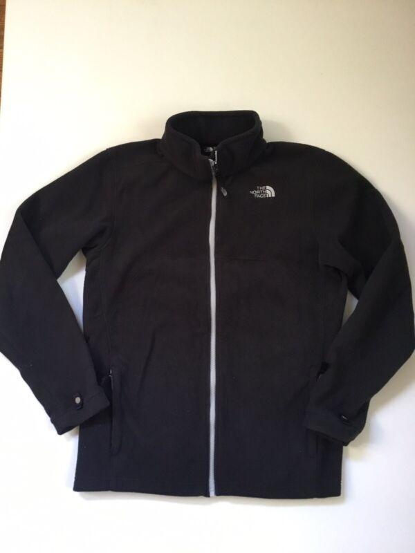 The North Face boys XL 18/20 fleece jacket Black  Full Zip